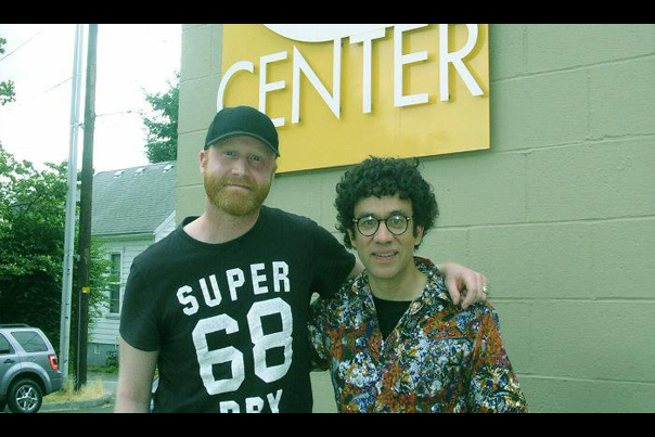 Logan Lynn and Fred Armisen from Portlandia at Q Center in Portland (2013)