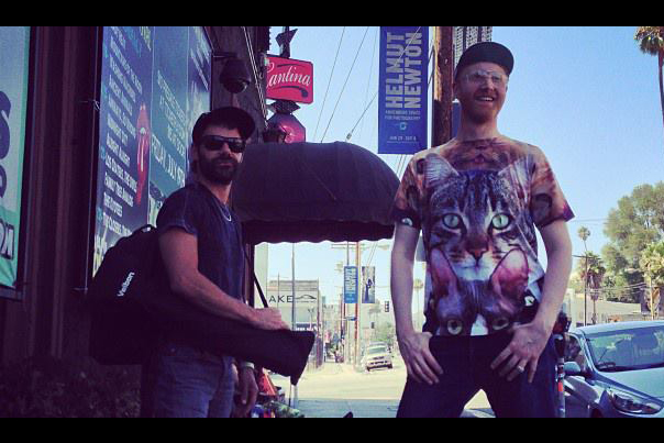 Logan Lynn on Sunset Boulevard with Filmmaker Runn Shayo (2013)