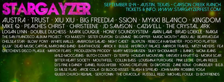 Stargayzer Lineup (Full)