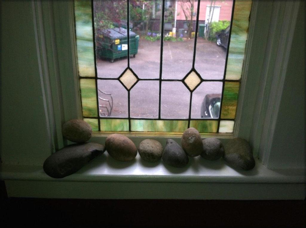 River Rocks Thrown Through Mars Hill Church WIndown (Lead With Love Documentary by Logan Lynn) 2014