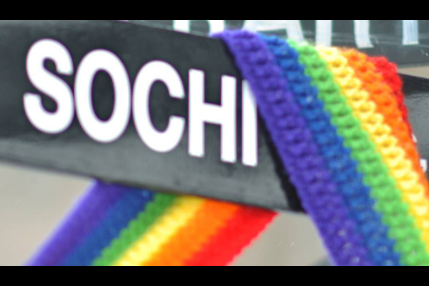 Sochi Sign Gay Propaganda in The Huffington Post (2014) photo by Chase Person