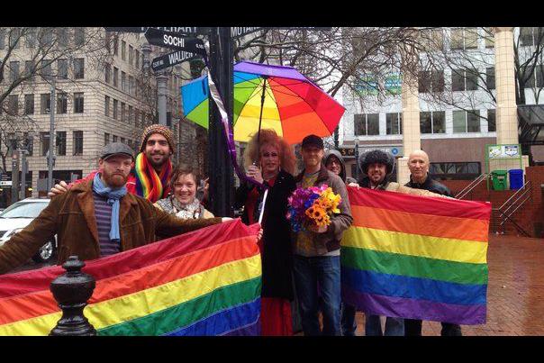 Sochi Sign Gay Propaganda in The Oregonian (2014)