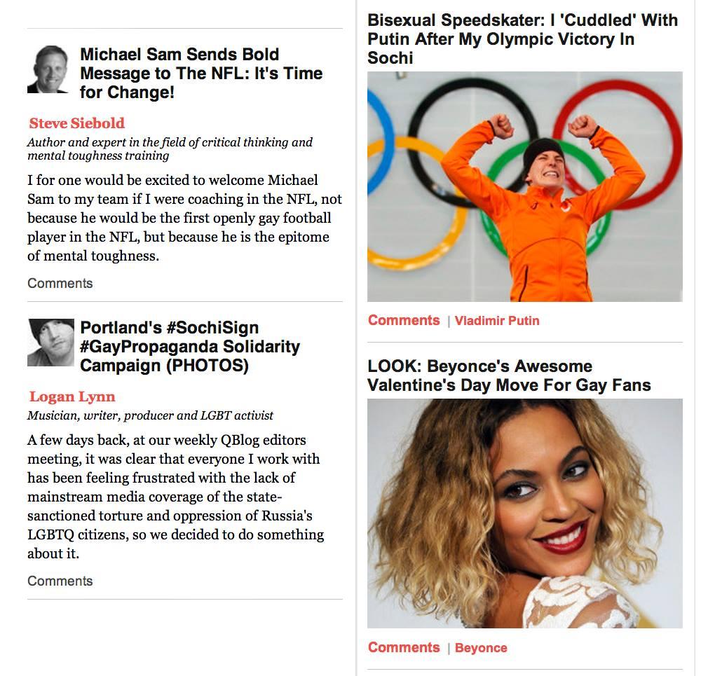 Sochi Sign Gay Propaganda on Huffington Post