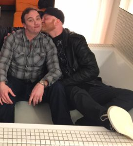 Logan Lynn and Jay Mohr in Los Angeles (2017)